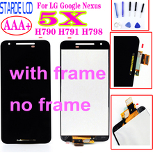 цена на Original For LG Google nexus 5X LCD Display H790 H791 H798 LCD Touch Screen Digitizer Assembly Frame For LG 5X LCD Replacement