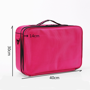 Image 3 - HHYUKIMI Double Layer Makeup Organizer Bag Professional Beautician Cosmetic Case Largest Travel Portable Waterproof Handbag