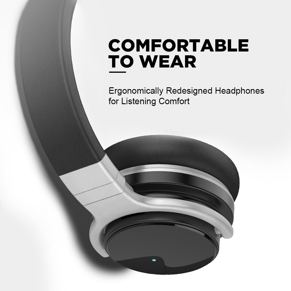 Meidong E7B[Upgraded] Active Noise Canceling Headphones Wireless Bluetooth Headphones 30 Hours Play ANC Gaming Headset for phone