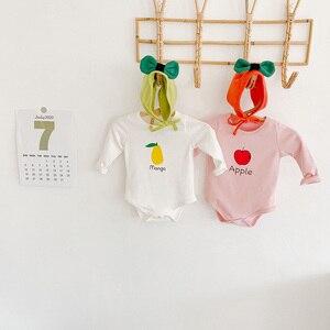 Milancel 2020 秋のベビーボディスーツ男の赤ちゃん服フルーツプリントボディスーツセットベビーバニー帽子inewbornベビー衣装