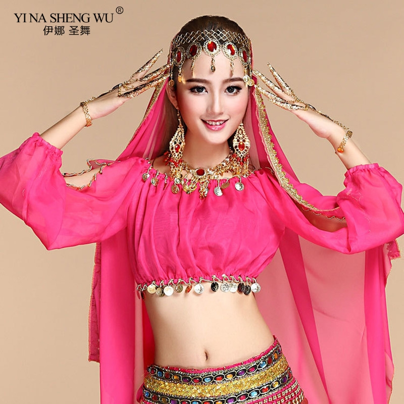 Bellydance <font><b>Tops</b></font> Costume Indian Clothing <font><b>Bollywood</b></font> Costumes Belly Dance Women Lady Egyptian Adult Belly Dancing Girl Clothes <font><b>Top</b></font> image