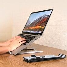Smasung Huawei xiaomi를위한 ANMONE 조정 가능한 휴대용 퍼스널 컴퓨터 대 Mackbook 휴대용 노트북 지원을위한 Foldable 휴대용 퍼스널 컴퓨터 테이블 홀더