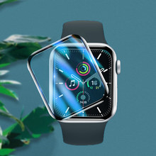 Film de protection d'écran pour Apple watch 6 SE, 44mm 40mm iWatch série 5 4 3 2 42mm 38mm, Film 3D à bord complet, accessoires Apple watch