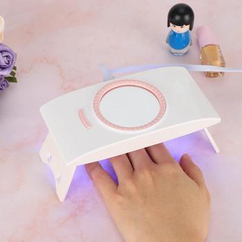 16W składana przenośna lampa do paznokci żel do paznokci osuszacz do paznokci urzadzenie do stylizacji paznokci z lustrem lampa do paznokci żel polski suszenie narzędzia tanie i dobre opinie TMISHION CN (pochodzenie) as show LAMPY LED LED Nail Lamp akumulator Other 8pcs USB cable DC5V 1A 365nm + 405nm 50000 hours