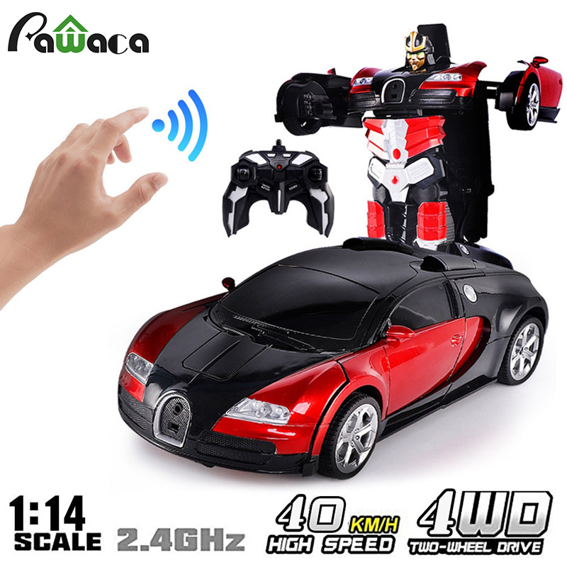 Remote Control Car Remote Sensing Induction Deformation Car Children's Remote Control Car Model Toy Transform Toy Remote|RC Cars| |  - title=