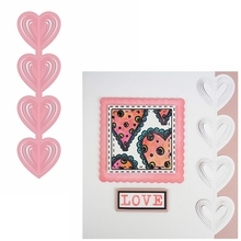 Love-Heart String Metal Cutting Die Sweet Border Cuts For Card Making DIY New 2019 Embossed Crafts Cards