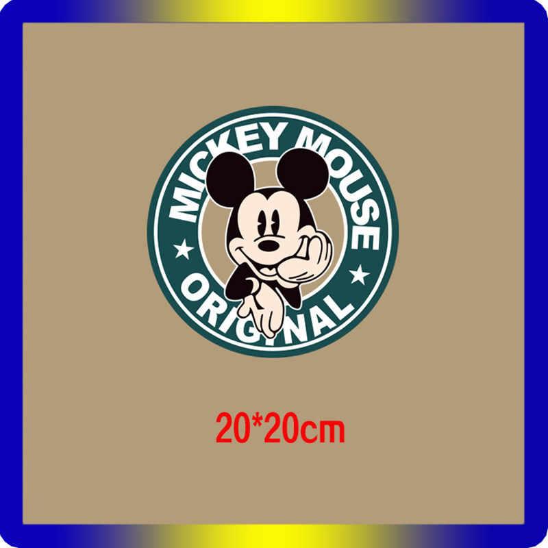 1 Uds. Etiqueta engomada del personaje de Mickey Mouse Minnie Duck parche con figuras de perros Animal icono DIY transferencia térmica hierro en decoración para ropa sensible al calor