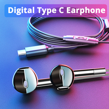 Langsdom 2019 New Type C Earphone for Phone Xiaomi Digital Chip Bass Headset Huawei Sumsang USB Headphones With Mic