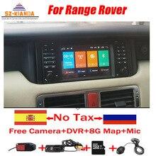 Android 10 samochodowy odtwarzacz DVD nawigacja GPS dla Range rovera 2002-2005 Wifi 3G Radio GPS Bluetooth RDS USB kierownica lustro
