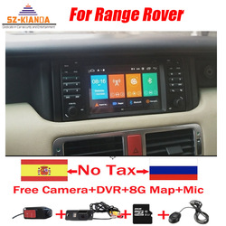 Автомобильный DVD GPS-навигатор на Android 10 для Range Rover 2002-2005 Wifi 3G GPS Bluetooth Радио RDS USB Зеркало управления рулевым колесом