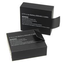 цена на 2Pcs/Set 3.7V Li-ion Battery 900mAh Camera Battery For EKEN H9 H9R H3R H8R H8PRO H8 SJ4000 SJ5000 M10 Action Camera Batteria