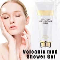 Whitening Volcanic Mud Bath Milk Cream Body Wash Exfoliating Body Lotion for Men Women SSwell 2