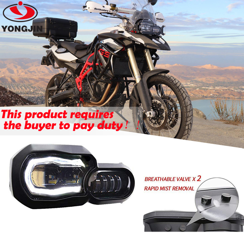 High/Low beam led headlight with Angel Eye DRL Assembly Kit and Replacement Headlight For BMW F650GS/F700GS/F800GS F800 GSA image