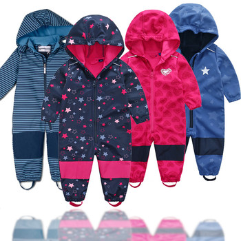 Foreign trade Germany Siamese ski suit children soft shell outdoor Jacket waterproof jumpsuit fleece lining jumpsuit платье foreign trade 2014
