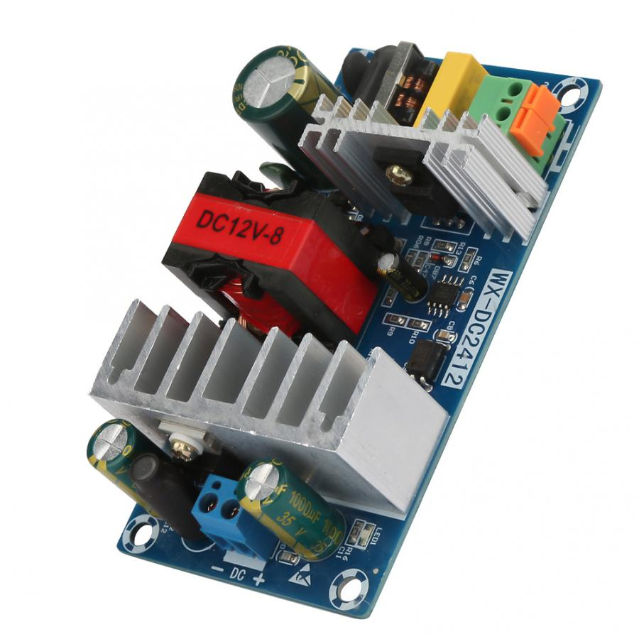 <font><b>12V</b></font> 8A 100W Switching <font><b>Power</b></font> <font><b>Supply</b></font> <font><b>Board</b></font> AC-DC Circuit Module WX-DC2412 Overcurrent Protection image
