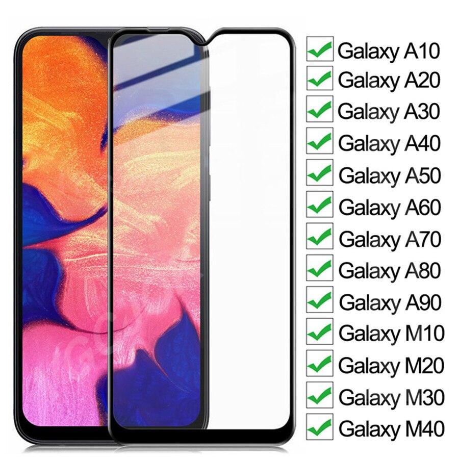 Защитное стекло, закаленное стекло 9D для Samsung Galaxy A10 A20 A30 A40 A50 A60 A70 A80 A90 M10 M20 M30 M40