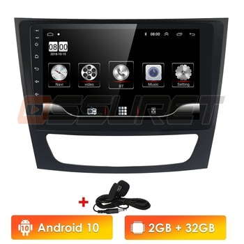 Android 10 9 Inch Car DVD Radio Player for Mercedes Benz E-class W211 E200 E220 E300 E350 E240 E270 E280 CLS CLASS W219 RDS GPS image