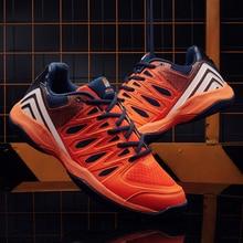 Обувь унисекс для волейбола с нескользящей подошвой; обувь для отдыха; синие и оранжевые кроссовки для мужчин и женщин
