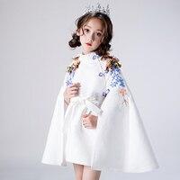 Baby Child Dress Princess Dress Girl Model Catwalk Tide Suit Little Girl Western Style White Host High Quality Girls Dress