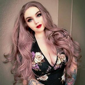 Image 1 - Perruques Lace Front wig synthétiques cendrées