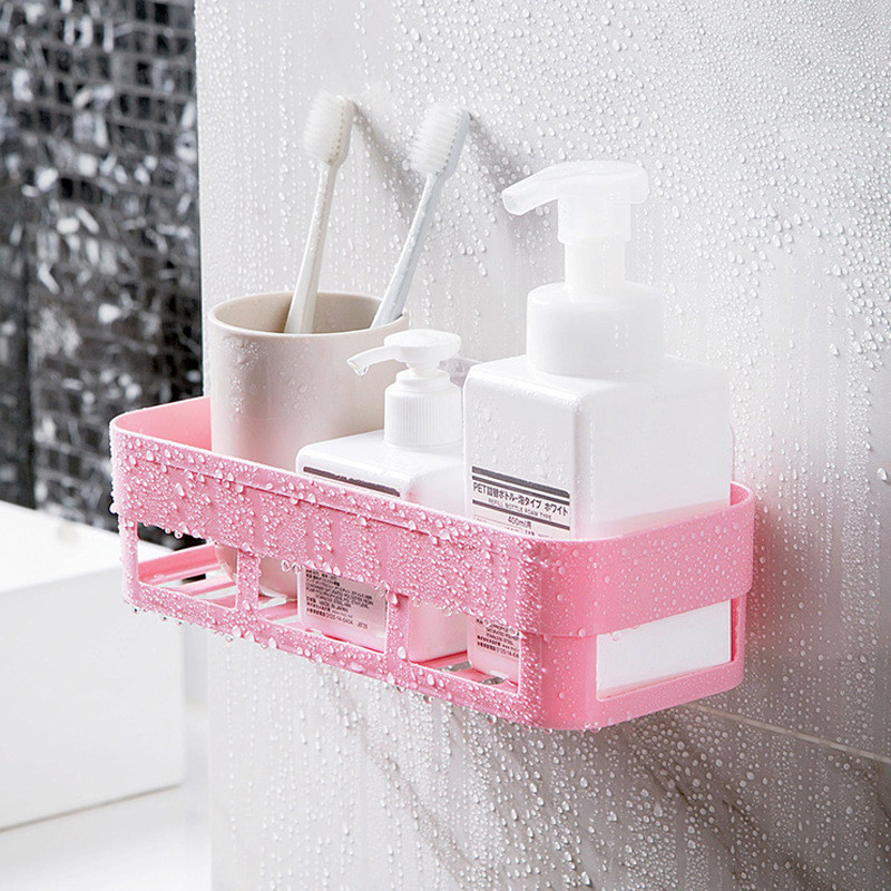 NEW Bathroom Shelf Storage Shampoo Holder Kitchen Storage Rack Organizer Wall Shelf Bathroom Holder Shelves Corner Shower Shelf image