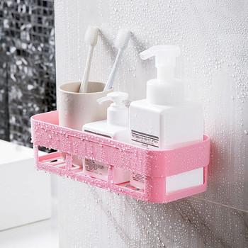 Nowa półka łazienkowa przechowywanie uchwyt na szampon uchwyt kuchenny do przechowywania organizator półka ścienna uchwyt łazienkowy półki narożna półka po prysznic tanie i dobre opinie Mrosaa Jeden poziom Typ ścienny Łazienka półki Rogu Plastic Z tworzywa sztucznego Bathroom Shelves none Punch Free