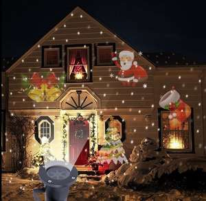 Light Outdoor Projector Landscape Garden Waterproof Home LED Santa-Claus