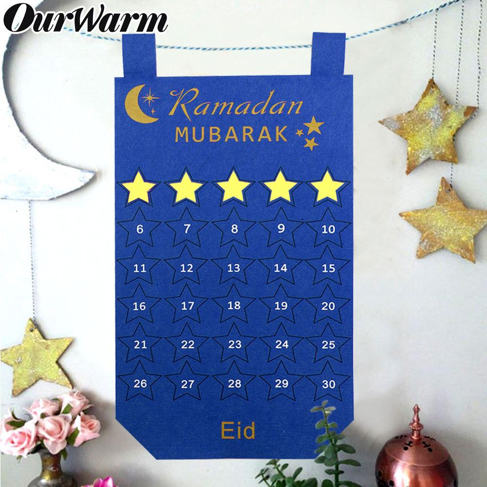 Ramadan Kareem Banner Decorations Burlap Hessian Rustic Eid Home Party Supply