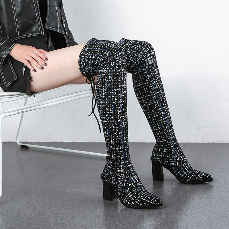 Image 5 - MORAZORA 2020 new arrival over the knee boots women pointed toe autumn winter high heels boots ladies party wedding shoes-in Over-the-Knee Boots from Shoes