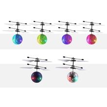 Mini LED Suspension Aircraft Electronic Infrared Induction Aircraft Remote Control Toys Hand Suspended Luminous Flying Ball funny flying fairy dolls toy infrared induction control flying angel dolls for girls remote control flying electronic toys kids