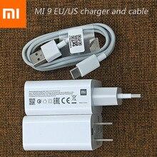 Ban Đầu Tiểu Mi 27W Sạc Nhanh QC 3.0 Turbo Sạc Điện USB C Cho Mi 9 8 SE 9T CC9 A2 A1 Mi X 3 2 Đỏ Mi Note 7 K20 Pro