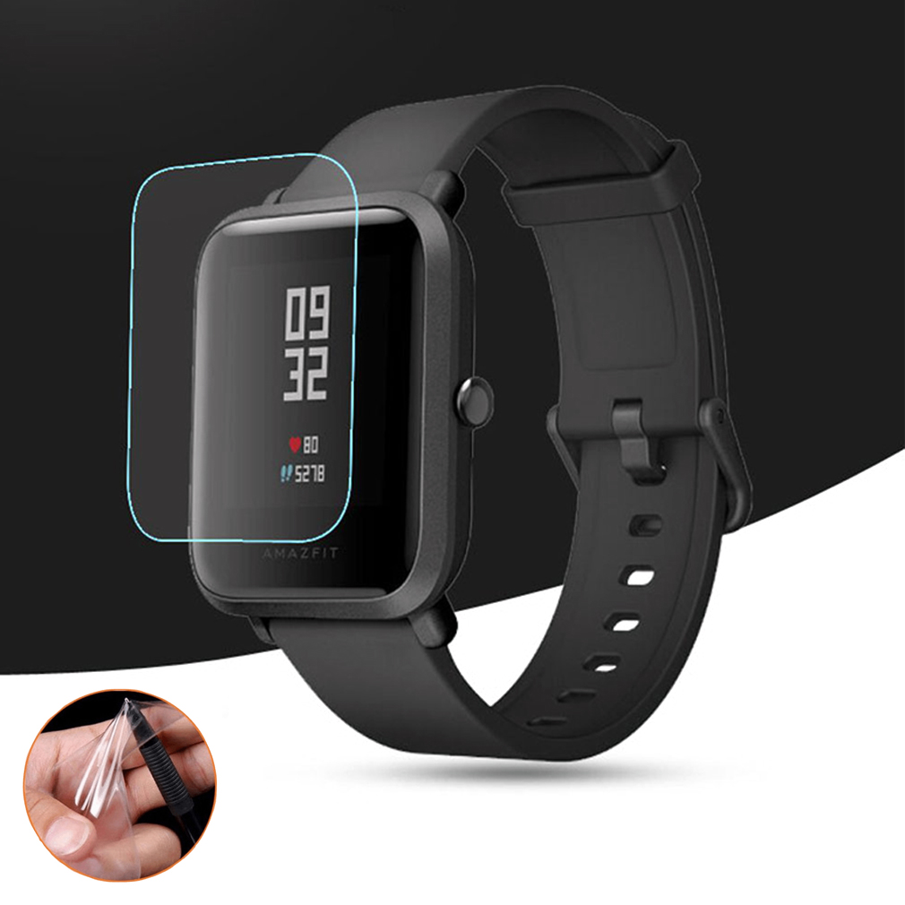 Soft TPU HD Clear Protective Film Guard For Xiaomi Huami Amazfit Bip BIT PACE Lite Smart Watch Full Screen Protector Cover