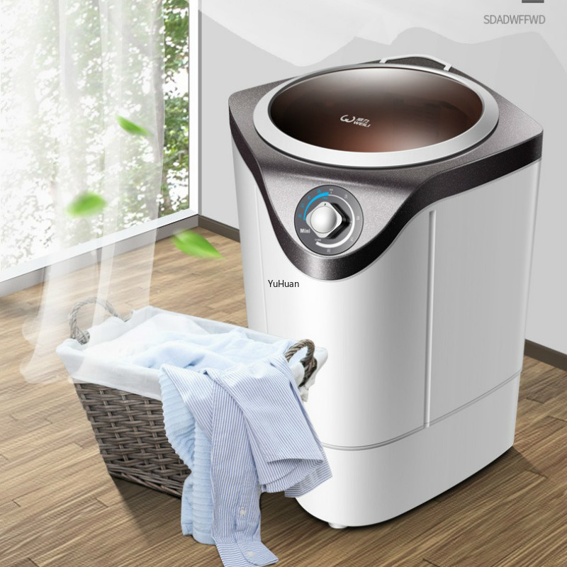 Household Washing Machine Single Barrel  Portable Washing Machine Semi-fully Automatic Washing Machine