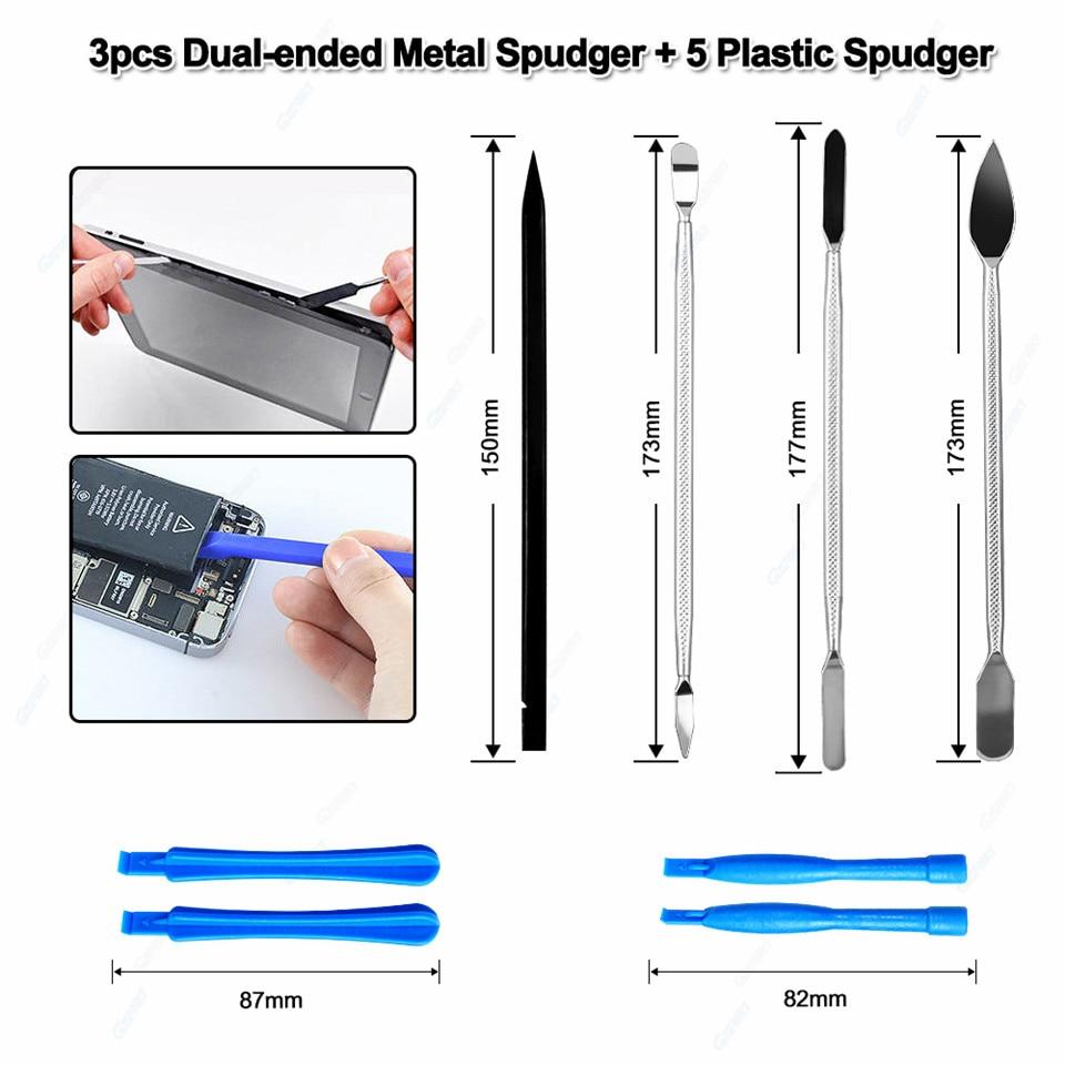 3 pcs dual ended metal spudger