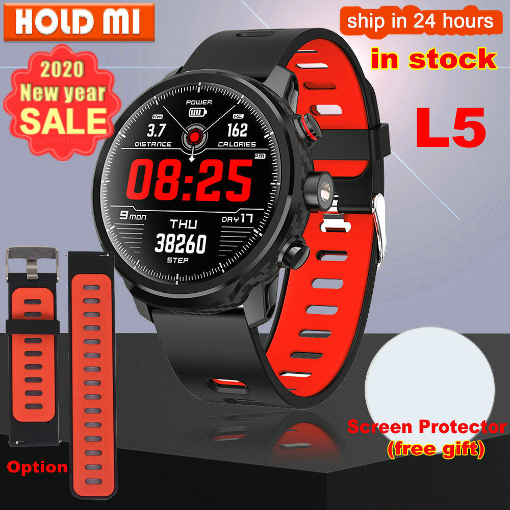New L5 Smart Watch Men IP68 Waterproof Multiple Sports Mode Heart Rate Weather Forecast Bluetooth Smartwatch Standby 100 Days(China)