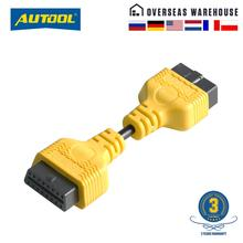 AUTOOL Car OBD 2 II Extension Cable Connector Auto OBD 16pin Adapter Extend Wire OBD2 Connect Cord F
