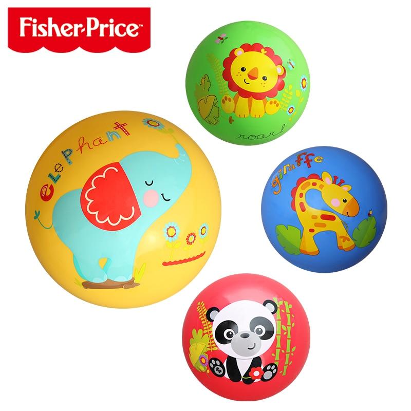 Fisher-Price Baby Toys Balls Pat Ball Kindergarten Cartoon Animal Inflatable Ball Infant Ball Kid Education Toys For Children