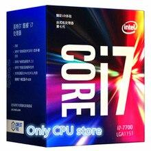 Processeur Intel Core 7 série I7 7700 I7 7700, processeur en boîte, LGA, 1151 land, 14 nanomètres, processeur Quad Core