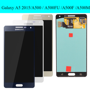 Image 2 - Original super AMOLED LCD for SAMSUNG Galaxy A5 2015 A500FU A500 A500F A500M Display Touch Screen Replacement Digitizer