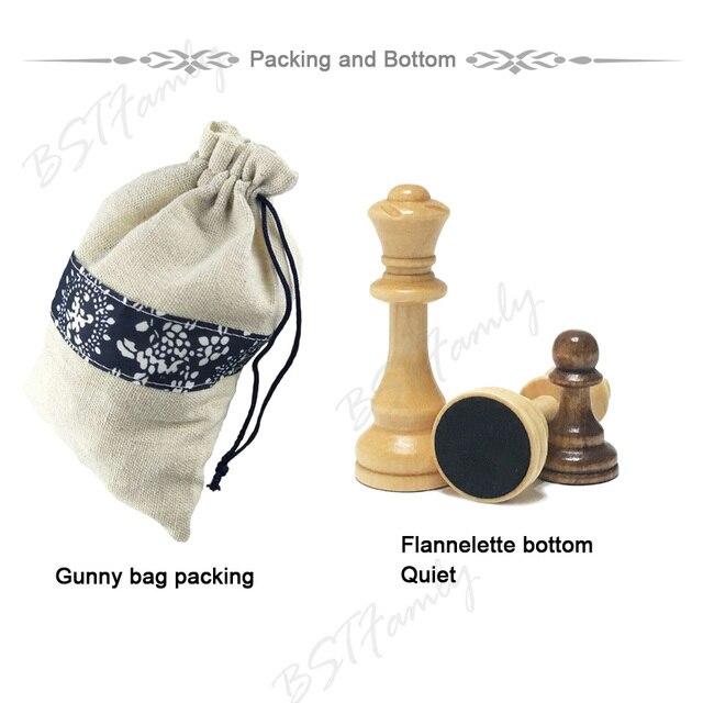 32 ou 34 pièces d'échecs en bois jeu d'échecs roi hauteur 105mm jeu d'échecs de voyage de haute qualité grand échiquier ou planche ou cadeau IA88 3
