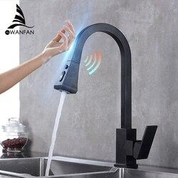 Pull Out Sensor Kitchen Faucet Black Sensitive Touch Control Faucet Mixer For Kitchen Touch Sensor Kitchen Mixer Tap