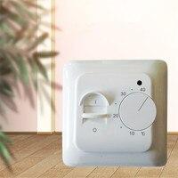 M5 лучшая цена Электрический теплый пол ручной комнатный термостат тапочки с вышитым узором в виде оленей кабель 220V 16A Температура контролле...