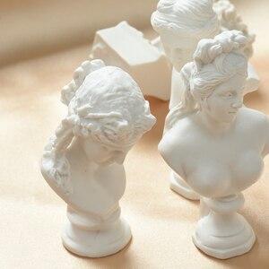Image 2 - Sculpture nordique créative plâtre mythologie grecque Imitation résine tête humaine Photo décors décoratifs pour accessoires de photographie