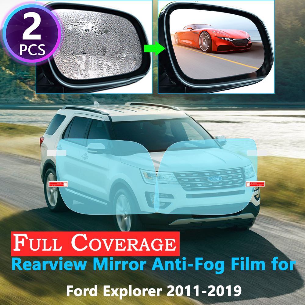 Full Cover Protective Film <font><b>for</b></font> <font><b>Ford</b></font> <font><b>Explorer</b></font> U502 MK5 2011~2019 Car Rearview <font><b>Mirror</b></font> Rainproof Anti-Fog <font><b>Accessories</b></font> 2018 2017 image