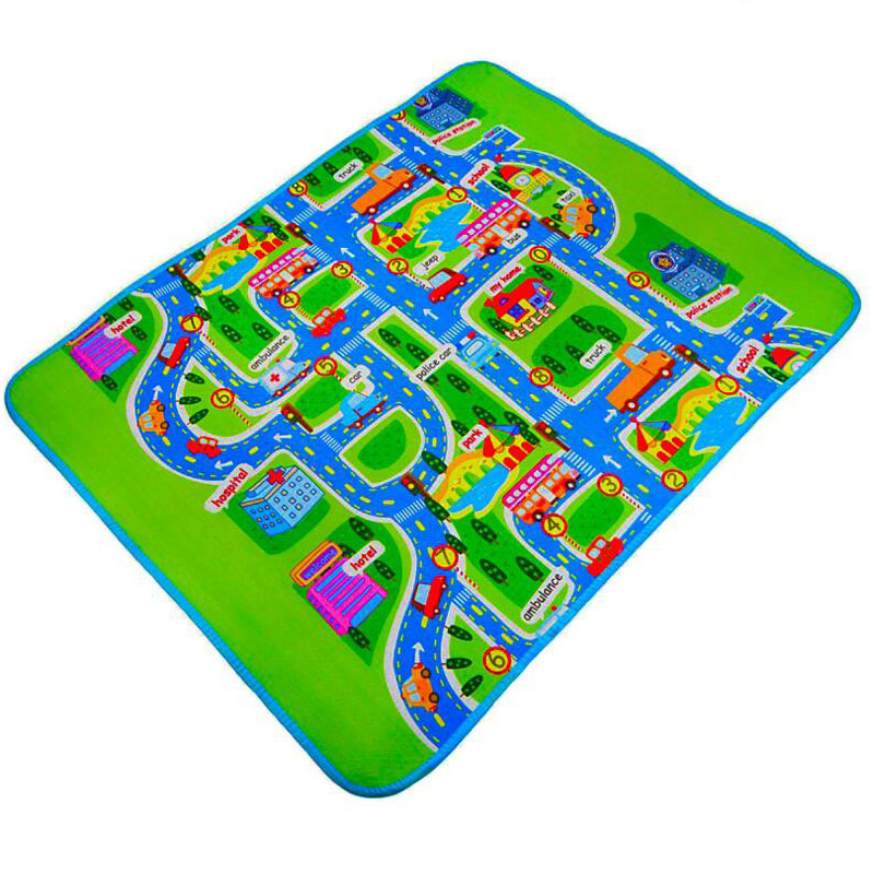 1.6 M * 1.3 M * 0.5 Cm Thick Single-Sided Urban Traffic Map Baby Game Pad Baby Toy Crawling Mat Moisture-Proof Aluminum Film Mat