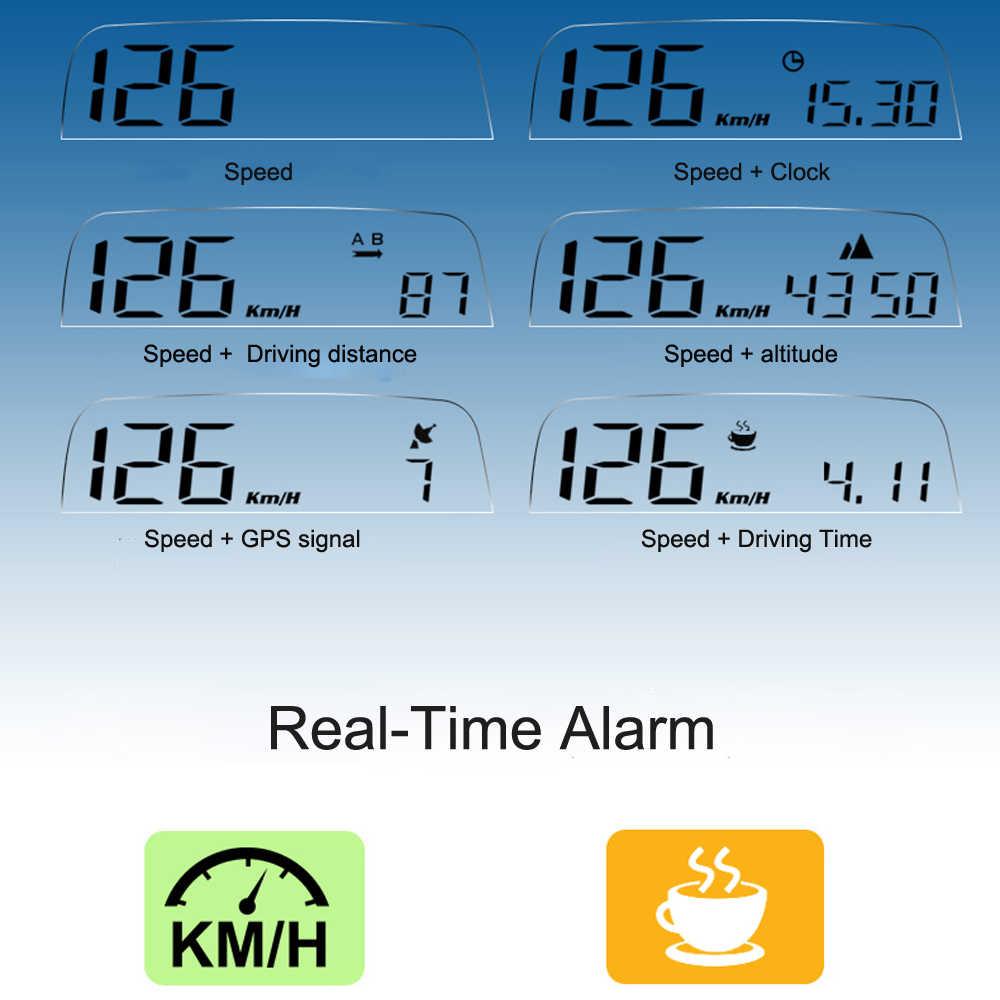 EANOP 2020 ใหม่ HUD M41 จอแสดงผล Head-up GPS Speedometer กระจกรถความเร็วโปรเจคเตอร์ KMH/KPM เข้ากันได้กับรถยนต์ทั้งหมด