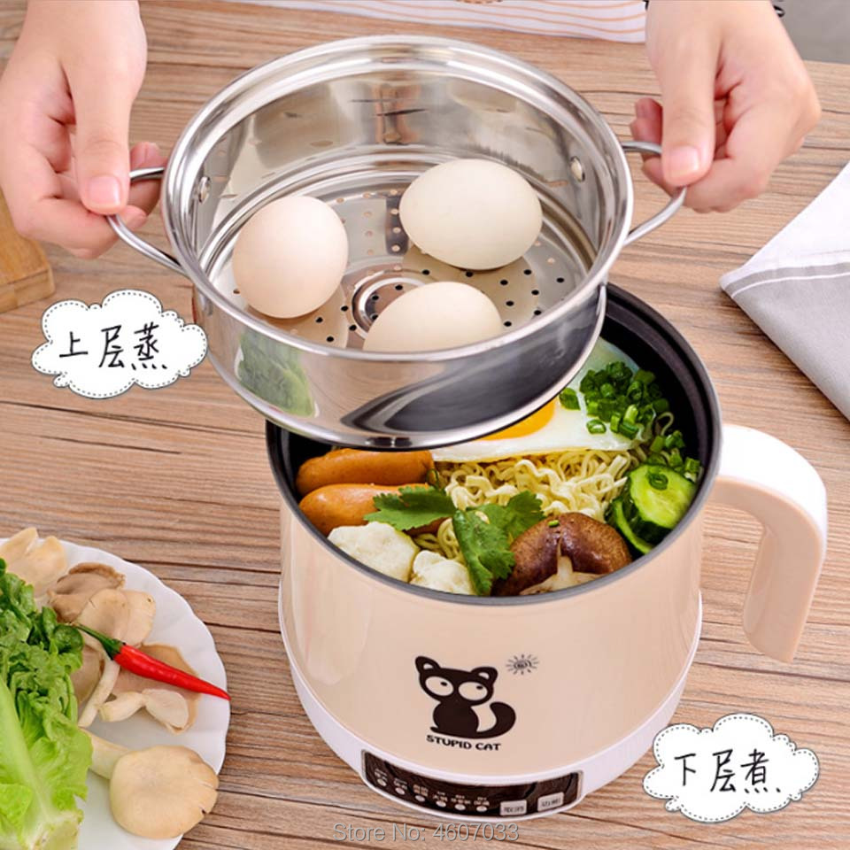 High Quality 220V Multifunctional Electric Cooking Hot Pot Machine Non-stick Pot Multicookers Frying Rice Cooker