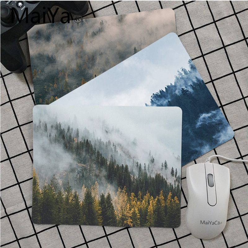 Maiya Landscape Forest White Smoke Fog Clouds Mouse Pad Gamer Play Mats Smooth Writing Pad Desktops Mate Gaming Mouse Pad