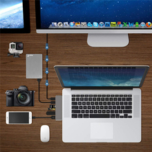 feed me Multifunction Docking Station Type-C To USB3.0 HUB PD SD/TF Expansion Dock For Laptop Iphone MacBook Pro
