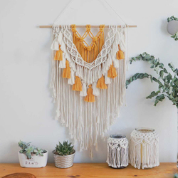 Colorful Macrame Wall Hanging Hand Made Bohemian Tapestry For Farmhouse Living Room Decoration Aesthetic Home Decor